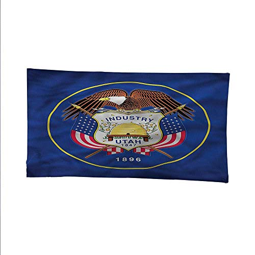 Americansimple tapestryart tapestryIndustry Utah Bald Eagle 91W x 60L Inch