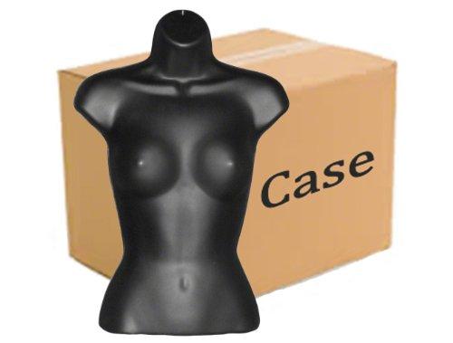 Case of 25 Black Female Mannequin Torsos by Plastic Mannequins