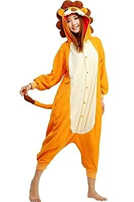 WOTOGOLD Animal Cosplay Costume Unisex Adult Lion Pajamas