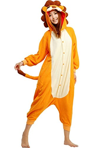 WOTOGOLD Animal Cosplay Costume Lion Unisex Adult Pajamas -
