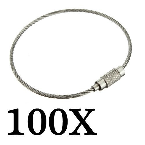 Stainless Steel Wire Keychain Cable Key Ring
