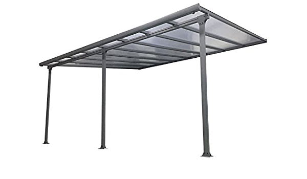 Pergola de aluminio 420 x 295 cm policarbonato 6 mm: Amazon ...