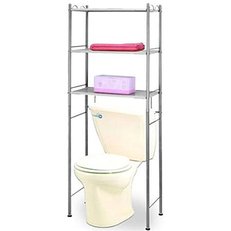 SIMPLE - Metal Over Toilet Storage / Bathroom Storage - Grey: Amazon ...