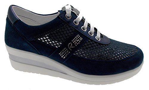 Femme Coin Art Pieds Sneaker Bleu 75850 Lacets Riposella Sport Chaussures qwvO05Cx