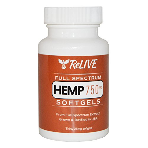 ReLIVE - Full Spectrum Hemp Oil Extract - 25 mg Softgel Capsules