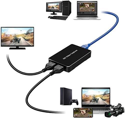 LinkStable キャプチャーボード HDMI ビデオキャプチャー USB3.0 HD ゲーム ビデオ録画 1080P 30fps @ H.264 ビデオキャプチャーボックス HDMIキャプチャーボード PS4 PS3 Xbox 360 Wii U PC Macに対応 (金属)
