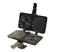 """CucinaPro Non-Stick Pizzelle Maker 220-05NS - Makes Two 5"""" Cookies at Once"""