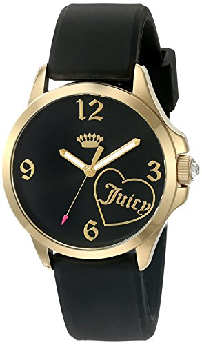 Juicy Couture Women's Black Silicone Strap Watch - 3