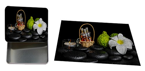 Aromatic Spa Set Bergamot Fruits Candles Metal Tin Box (4