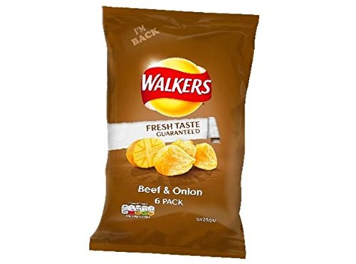 Walkers Crisps - Beef & Onion (6x25g)