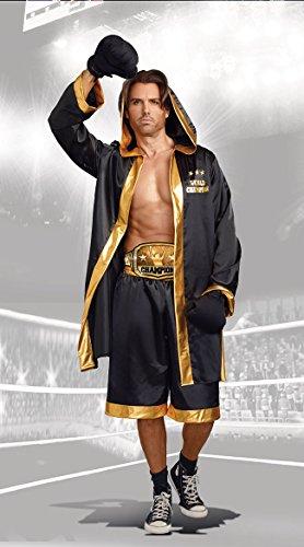 Dreamgirl Men's World Champion Costume, Black/Gold, X-Large