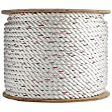Poly Dacron Rope (3/8 inch - 2 inch) - SGT Knots - Twisted 3 Strand Line with Polyolefin Core - UV, Chemical & Weather Resistant - Marine, Commercial, Arborist & DIY (25 ft - 600 ft)