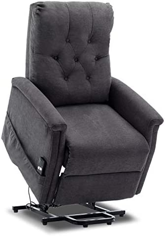 Bonzy Home Power Lift Recliner Chair Fabric Electric Recliner