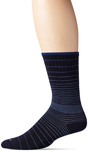 Sockwell Men's Plantar Ease Crew Socks, Navy, Medium/Large