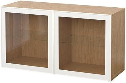 IKEA BESTA - Estantería con efecto a las puertas de cristal ...