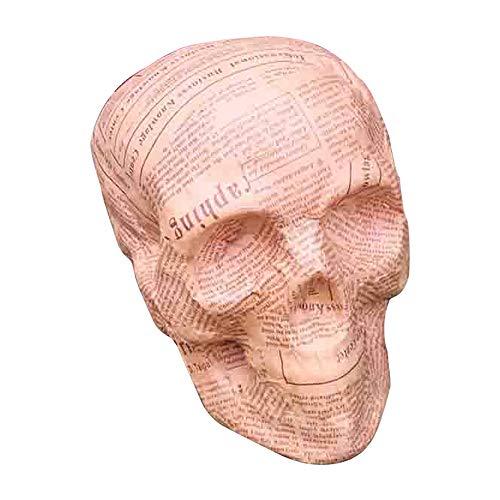 East Dream Halloween Newspaper Skull Bones Life Size Skull Haunted House Escape Horror Props Decorations 6 Inch ()