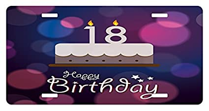 Cool Amazon Com Lsriyzy 18Th Birthday License Plate By Cartoon Home Remodeling Inspirations Basidirectenergyitoicom