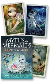 Party Games Accessories Halloween Séance Tarot Cards Myths & Mermaids oracle of the Water by Jasmine -