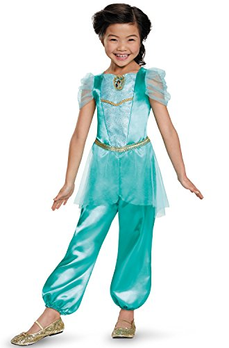 [Disguise Jasmine Classic Disney Princess Aladdin Costume, One Color, X-Small/3T-4T] (Jasmine And Aladdin Costumes)