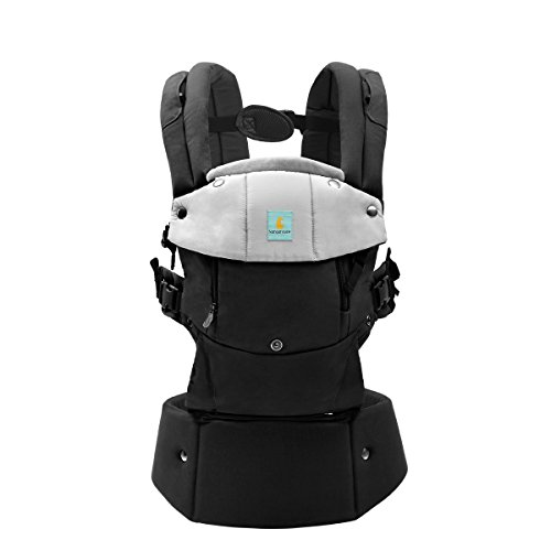Baby Carrier- All Seasons 6 Position Soft Carrier Easy Breastfeeding No Infant Insert Needed Bla ...