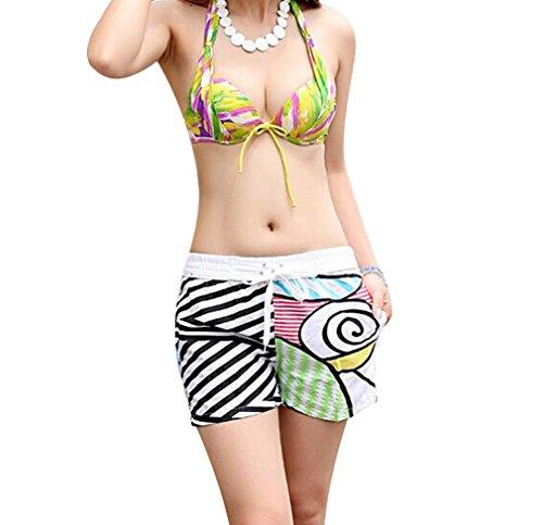 Bain Confortable Femme Couleur Plage Les xxl Couple Pour Homme Couleurs Xl taille 5 Maillots Pantalons D'eté De Acvip Amoureux Shorts Fleur Motif x06II1