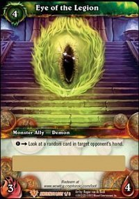 Eye Of The Legion Loot Card World Of Warcraft WoW