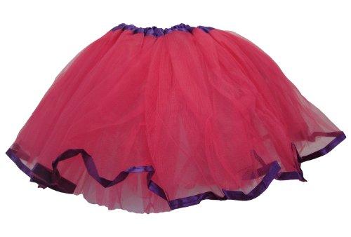 Dark Pink Purple Satin Ribbon Lined Dance -