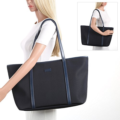 4b8cbac0bdbf CHICECO Nylon Extra Large Tote Bag Shoulder Bag for Women - Navy Blue   Amazon.co.uk  Luggage