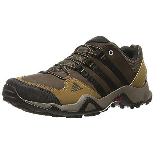 adidas Outdoor Men's Brushwood Leather Hiking Shoe, Brown/Black/Craft Khaki,  10 M US
