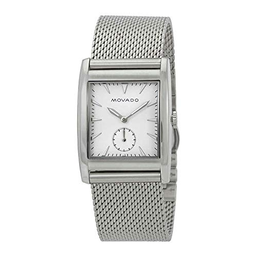 Movado Heritage White Dial Stainless Steel Mesh Mens Watch 3650044