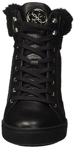 Negro nero Mujer Zapatillas Furr Para Guess Altas wxA1qCX