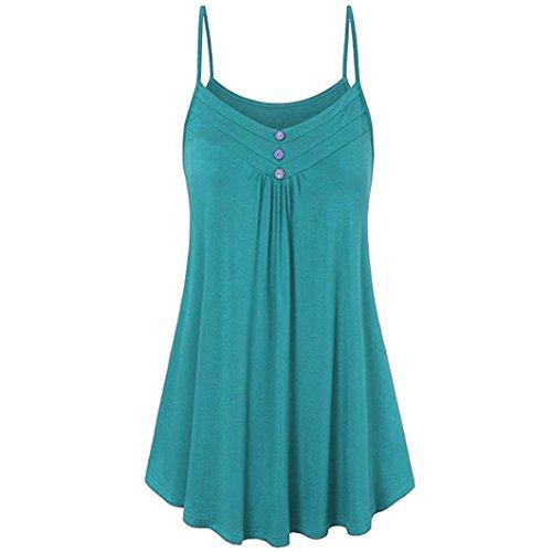 AIMEE7 Femme Vetements Big promotio Chic t Camisole t Chemisier Femme Grande Taille Dbardeurs Lache Gilet Top Casual Tee Shirt Dcontracte Haut Jolie T-Shirt Blouse Mode Chemise Vert