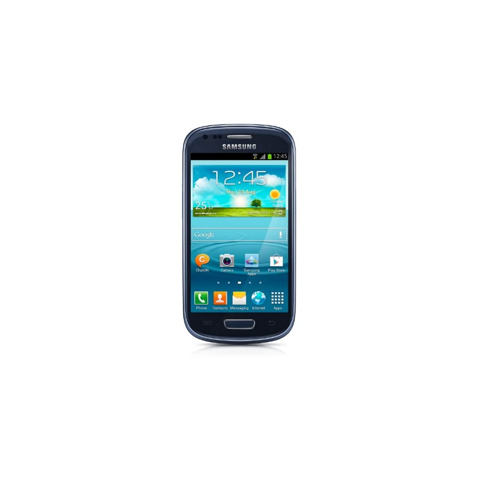 Samsung Galaxy S3 Mini GT i8200 Unlocked Cellphone, International Version, Retail Packaging, Blue