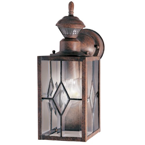 Heath Zenith HZ-4151-BR1 Mission Style 150-Degree Motion Sensing Decorative Security Light, Rustic Brown