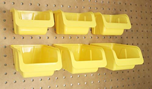 JSP Manufacturing Pegboard Bin Kit - Pegboard Parts Storage Craft Organizer Tool Peg Board Workbench Bins Accessories 5 PACK LARGE by JSP Manufacturing (Image #8)