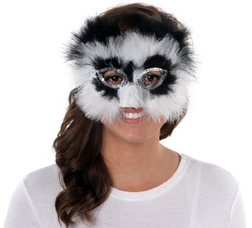 Zucker Feather (TM) - Feather Panda Mask - Black/White -