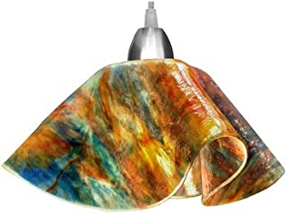product image for Jezebel Signature Lily Track Lighting Pendant Small. Hardware: Nickel. Glass: Daylily
