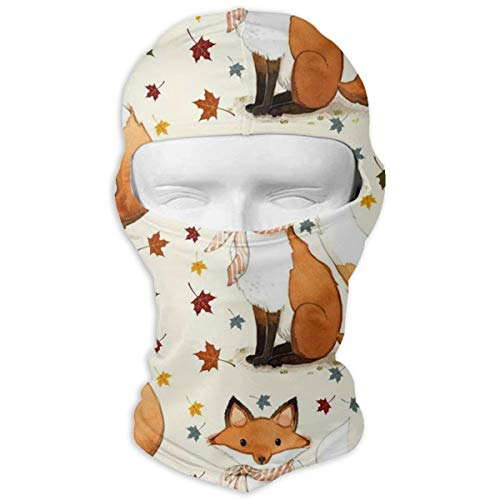 O-X_X-O Men/Women Breathable Motorcycle Autumn Fox Full Face Mask Windproof Dust UV Protection Balaclava for Hiking Cycling Skiing Fishing and Outdoor -