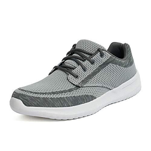 Bruno Marc Men's Walking Shoes Sneakers Walk-Easy-02 Grey Size 10.5 M US