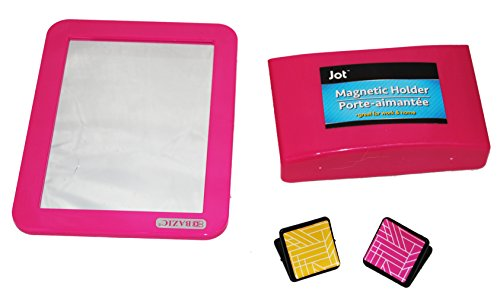 Fashion Magnetic Locker Mirror and Pencil Organizer (Pink) by School Shop (Image #2)