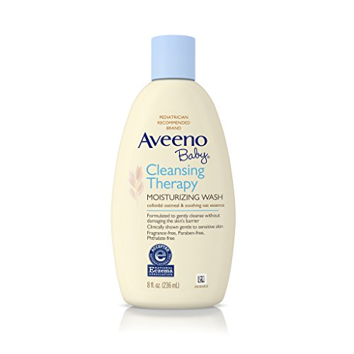Aveeno Baby Cleansing Therapy Moisturizing Wash, 8 Ounce (Pack of 2)