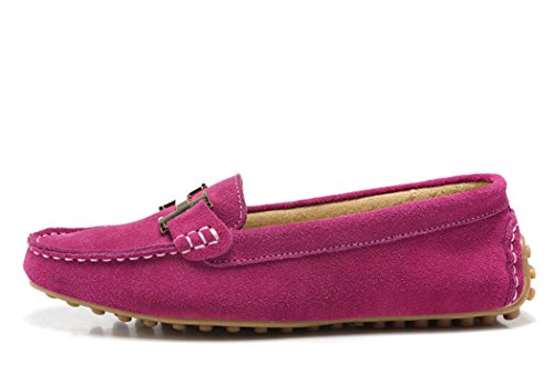 WUXING Christmas Women's New Slip-On European And American Style Casual Shoes(7 B(M)US, pink)