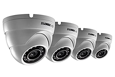 HD 1080p weatherproof IR dome security cameras 4 pack by LOREX