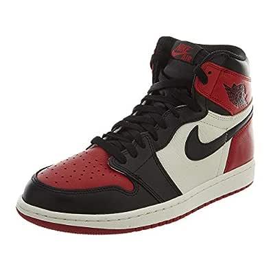 NIKE Air Jordan 1 Retro High Shoes OG Bred Toe Oficial en Cuero ...