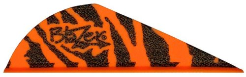 Bohning Blazer Vanes Orange Tiger 100pk 2 inch #35923