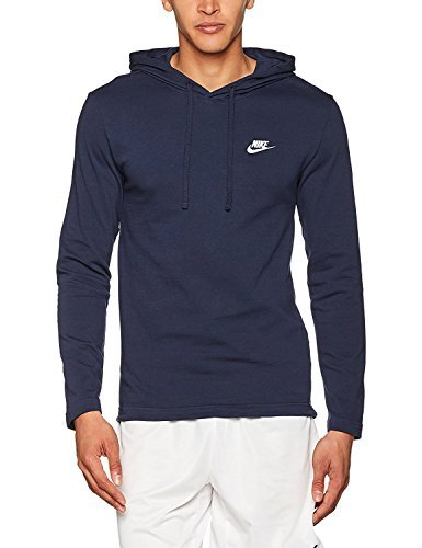 Pull Over Hooded Long Sleeve Shirt Obsidian Blue/White 807249-451 Size 3X-Large ()