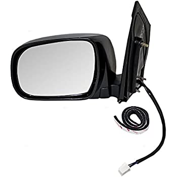 amazon com power heated side view mirror folding driver left lh for rh amazon com 2011 toyota sienna side mirror glass 2008 toyota sienna side mirror glass replacement