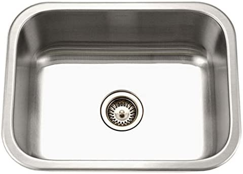 Houzer MS-2309-1 Medallion Classic Series Undermount Stainless Steel Single Bowl Kitchen Sink