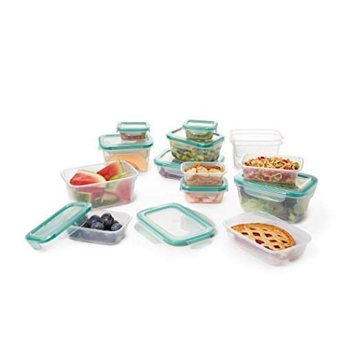 (OXO Good Grips 28 Piece Smart Seal Leakproof Food Storage Container Set)