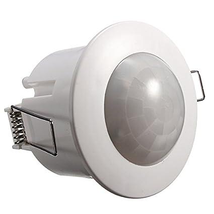 AGFRI 17011 Detector Movimiento para Control de Energía, Aplicaciones de Seguridad y Domótica, Blanco